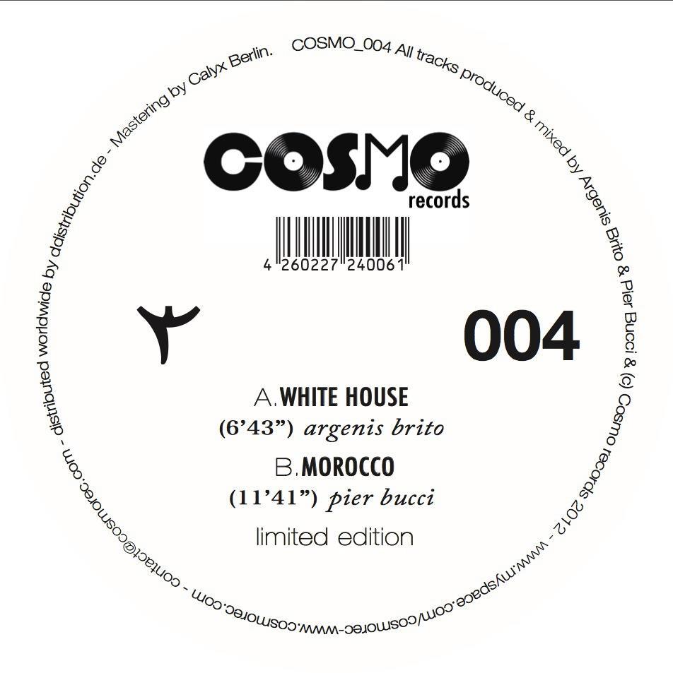Argenis Brito & Pier Bucci – Rabat Ep (Cosmo Records)