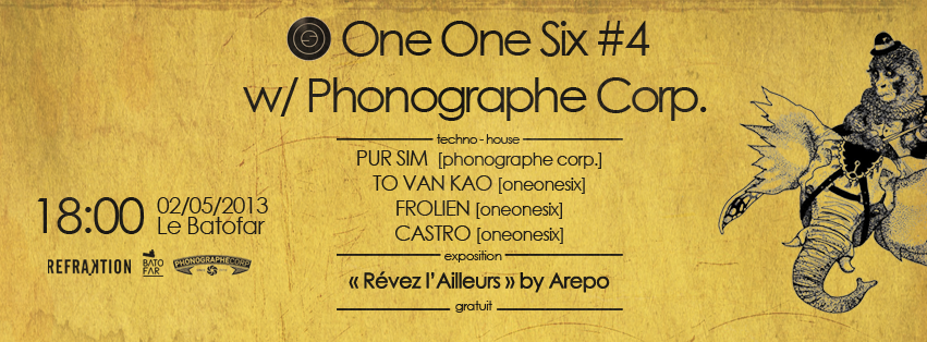 OneOneSix invite Phonographe Corp @ Le Batofar