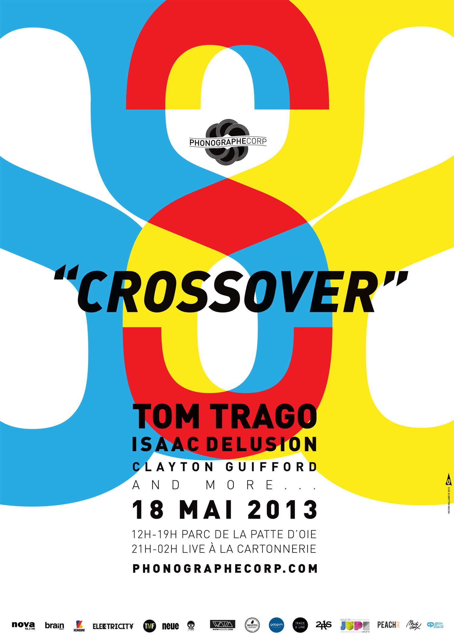 PHONOGRAPHE CORP présente CROSSOVER w/ Tom Trago, Isaac Delusion, Clayton Guifford…