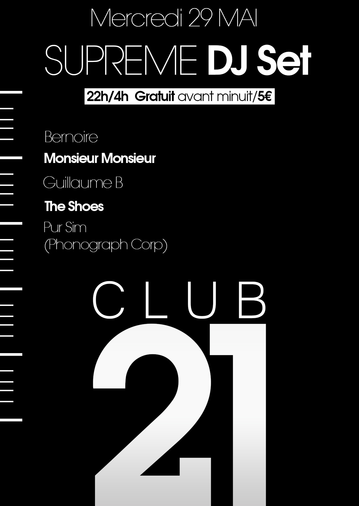 PurSim @ Supreme DJ Set, Club 21 (Reims)