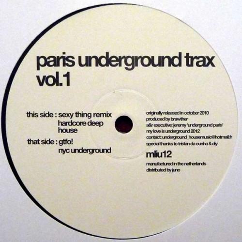 Paris Underground Trax Vol. 1 x Phonographe Corp